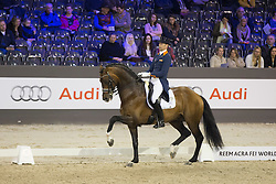 Minderhoud Hans Peter (NED) - Glock's Johnson TN<br /> Grand Prix CDI 4*<br /> Indoor Brabant - 's Hertogenbosch 2015<br /> © Hippo Foto - Dirk Caremans