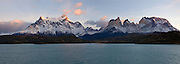 Stitched Panoramic of Tierra del Fuego, Torres Del Plaine National Park.
