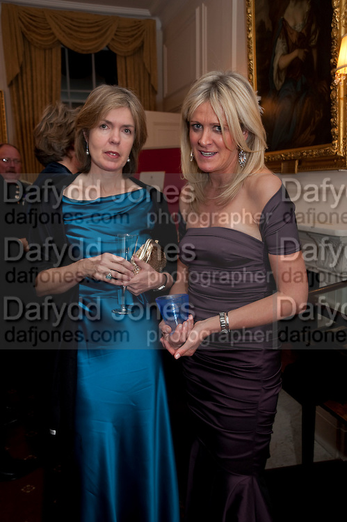 LOIS COX; ALEXANDRA DUNHILL, Charity Dinner in aid of Caring for Courage The Royal Scots Dragoon Guards Afganistan Welfare Appeal. In the presence of the Duke of Kent. The Royal Hospital, Chaelsea. London. 20 October 2011. <br /> <br />  , -DO NOT ARCHIVE-© Copyright Photograph by Dafydd Jones. 248 Clapham Rd. London SW9 0PZ. Tel 0207 820 0771. www.dafjones.com.