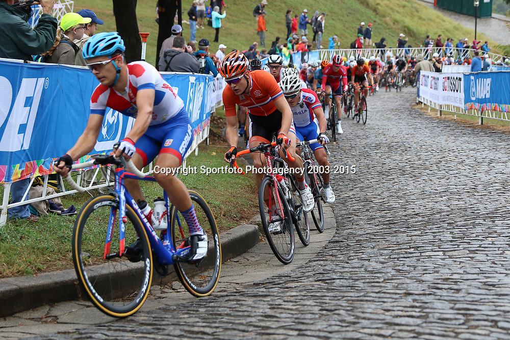 RICHMOND (USA) wielrennen<br /> De junioren in de beklimming van Libby Hill op het WK wielrennen