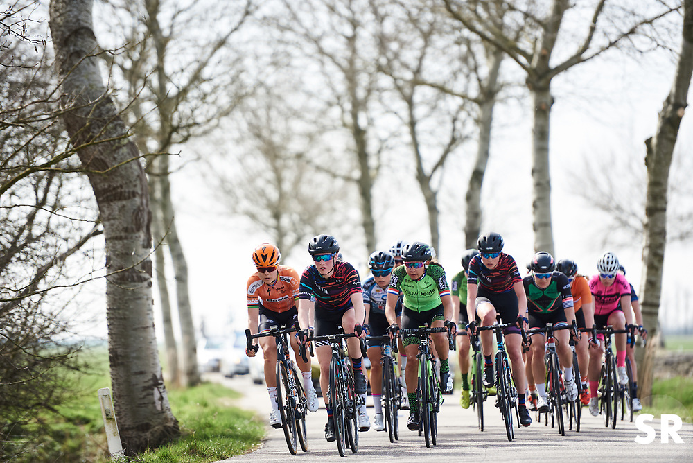 Alice Barnes (GBR) and Anouska Koster (NED) on group two on the road at Healthy Ageing Tour 2018 - Stage 4, a 143 km road race starting and finishing in Winsum on April 7, 2018. Photo by Sean Robinson/Velofocus.com