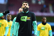 Aston Villa midfielder Mile Jedinak (15) in his :kick it out T-Shirt during the EFL Sky Bet Championship match between Aston Villa and Reading at Villa Park, Birmingham, England on 3 April 2018. Picture by Dennis Goodwin.