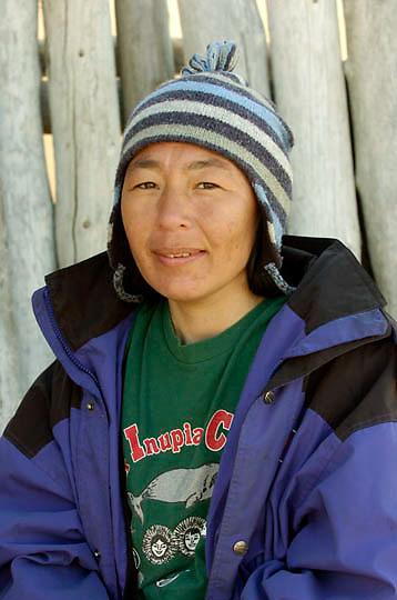 Native Inuit woman in Barrows, Alaska.