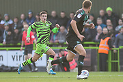 Forest Green Rovers Jack Aitchison(29), on loan from Celtic runs forward during the EFL Sky Bet League 2 match between Forest Green Rovers and Plymouth Argyle at the New Lawn, Forest Green, United Kingdom on 16 November 2019.