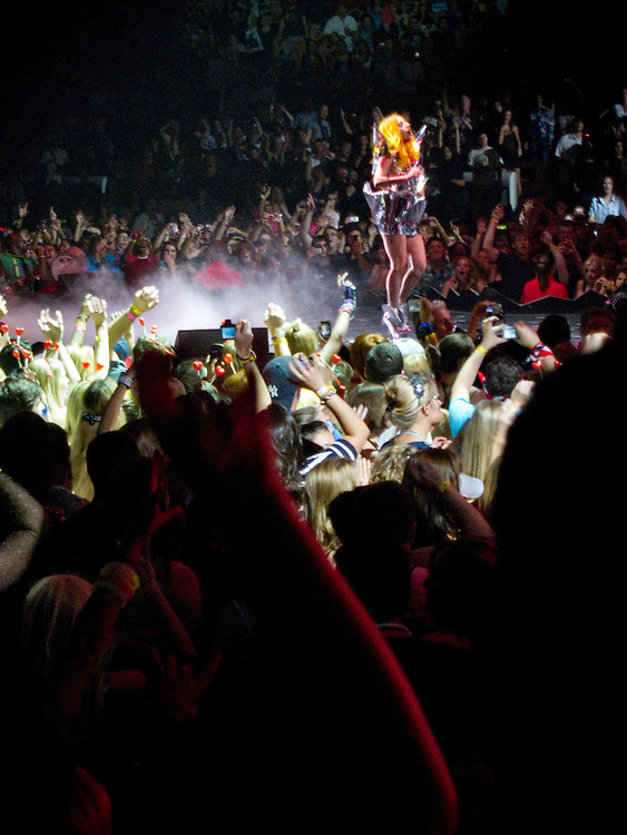 Lady Gaga concert at the RBC Center in Raleigh. Fans during and after the concert...Photographer: Chris Maluszynski /MOMENT