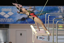 19.08.2014, Europa Sportpark, Berlin, GER, LEN, Schwimm EM 2014, Turmspringen, 10m, Synchron, Damen, Finale, im Bild My Phan, Maria Kurjo (Deutschland) // during the finals of women's 10m synchronous Diving of the LEN 2014 European Swimming Championships at the Europa Sportpark in Berlin, Germany on 2014/08/19. EXPA Pictures © 2014, PhotoCredit: EXPA/ Eibner-Pressefoto/ Lau<br /> <br /> *****ATTENTION - OUT of GER*****