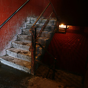 The infamous stairs of the Chicago Public Housing Authority's public housing development. Annie Ricks and her family moved from the public housing at 1230 N. Burling Street, Thursday December 8, 2010. <br /> Photography by Jose More