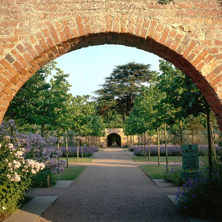 View into South Garden, Hampton Court, Herefordshire