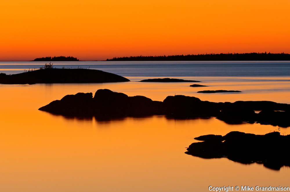 Sunset on Georgain Bay at Burnt Point<br /> Tobermory<br /> Ontario<br /> Canada