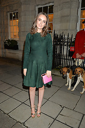 LADY ELIZA MANNERS at a party to celebrate the publication of Capability Brown & Belvoir - Discovering a lost Landscape by The Duchess of Rutland, held at Christie's, 8 King Street, St.James, London on 7th October 2015.