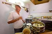 Uzbekistan, Bukhara. Traditional Manty (steamed dumplings).