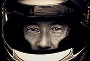 Image of an autocross driver wearing a helmet, Bremerton, Washington, Pacific Northwest, model released