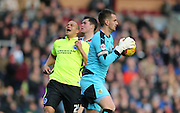 Burnley goalkeeper Tom Heaton (1) during the Sky Bet Championship match between Burnley and Brighton and Hove Albion at Turf Moor, Burnley, England on 22 November 2015.