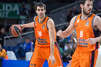 Valencia Basket Fernando San Emeterio and Sam Van Rosso during Turkish Airlines Euroleague match between Real Madrid and Valencia Basket at Wizink Center in Madrid, Spain. December 19, 2017. (ALTERPHOTOS/Borja B.Hojas)