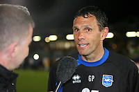 Football - League One - Brighton & Hove Albion vs. Dagenham and Redbridge<br /> Brighton and Hove Albion's Manager Gus Poyet faces the press after his side win promotion to The Championship