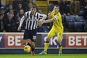 Millwall forward Harry Smith (30) battles for possesion with Bristol Rovers defender Tom Lockyer (4) during the EFL Sky Bet League 1 match between Millwall and Bristol Rovers at The Den, London, England on 12 November 2016. Photo by Matthew Redman.