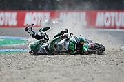 #87 Remy GARDNER AUS ONEXOX TKKR SAG Team Kalex crashes in the Moto2 race during the Motul Dutch TT MotoGP, TT Circuit, Assen, Netherlands on 30 June 2019.