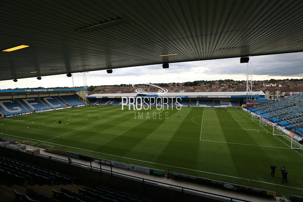 Priestfield Stadium during the Pre-Season Friendly match between Gillingham and Brighton and Hove Albion at the MEMS Priestfield Stadium, Gillingham, England on 29 July 2015.