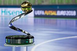 Trophy before final of UEFA Futsal EURO 2018, on February 9, 2018 in Arena Stozice, Ljubljana, Slovenia. Photo by Urban Urbanc / Sportida