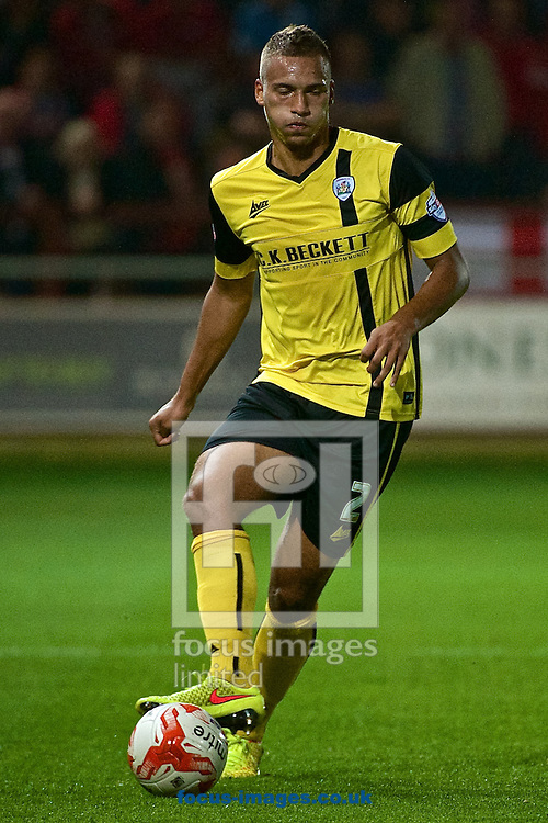 Reece Brown of Barnsley during the Sky Bet League 1 match at the Highbury Stadium, Fleetwood<br /> Picture by Ian Wadkins/Focus Images Ltd +44 7877 568959<br /> 17/09/2014