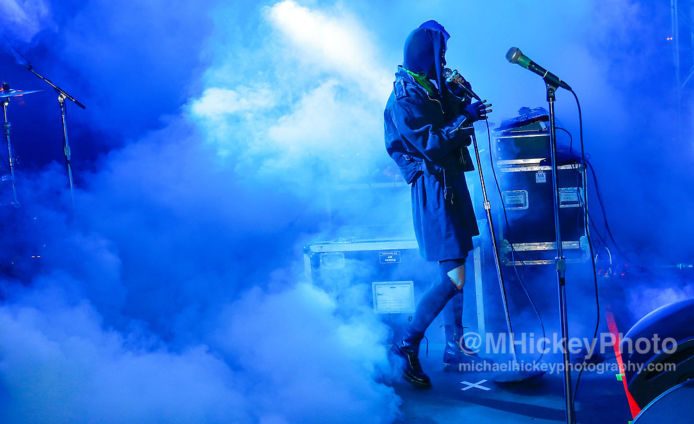 CHICAGO, IL - AUGUST 04: Crystal Castles performs at Grant Park on August 4, 2017 in Chicago, Illinois. (Photo by Michael Hickey/Getty Images) *** Local Caption *** Crystal Castles