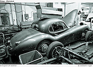 1952 Jaguar XK120 Coupe with Triumph TR6 chassis in foreground.