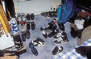 Bedroom full of trainers.