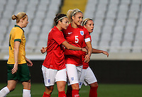 Fifa Womans World Cup Canada 2015 - Preview //<br /> Cyprus Cup 2015 Tournament ( Gsp Stadium Nicosia - Cyprus ) - <br /> Australia vs England 0-3   // Jodie Taylor of England , celebrates after his 2nd Goal (0-2) with team mates Steph Houghton (M) and Jordan Nobbs (Back)