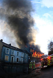 © Paul Thompson Licensed to London News Pictures. 19/11/2015. Thornton, Bradford. The fire brigade attend a fire at Prospect Mill in Thornton Village. Photo credit : Paul Thompson/LNP