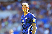 Aden Flint (5) of Cardiff City during the EFL Sky Bet Championship match between Cardiff City and Middlesbrough at the Cardiff City Stadium, Cardiff, Wales on 21 September 2019.