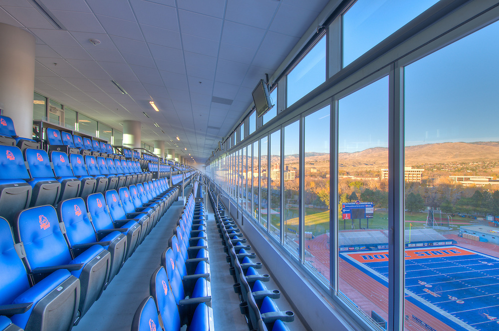 Boise State University ( BSU ) Stadium and Stueckle Sky Center. Interior Photography.