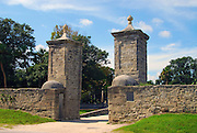 A photograph of the historic City Gates - St. Augustine,Florida.