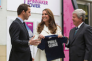 HRH The Duchess of Cambridge. The Royal Patron of the 1851 Trust adds personal touch to BAR HQ art project alongside 72 local children<br /> Images free for editorial use: <br /> <br /> Credit Lloyd Images