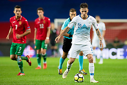 Benjamin Verbic of Slovenia during football match between National teams of Slovenia and Bulgaria in Group stage of UEFA National League, on September 6, 2018 in SRC Stozice, Ljubljana, Slovenia. Photo by Urban Urbanc / Sportida