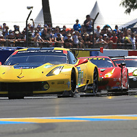#64, Corvette Racing-GM, Chevrolet Corvette C7.R, driven by: Oliver Gavin, Tommy Milner, Marcel Fassler, 24 Heures Du Mans 85th Edition, 17/06/2017,
