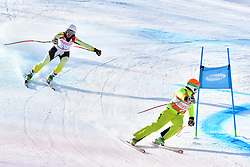 RISTAU Noemi Ewa B2 GER Guide: GERKAU Lucien competing in ParaSkiAlpin, Para Alpine Skiing, Super G at PyeongChang2018 Winter Paralympic Games, South Korea.