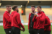 Bournemouth players arrive at the Pirelli Stadium during the EFL Cup match between Burton Albion and Bournemouth at the Pirelli Stadium, Burton upon Trent, England on 25 September 2019.