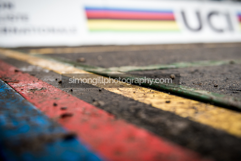 UCI Cyclo-cross World Championships in Valkenburg 2018. The start line of the course. Photo by Simon Gill.