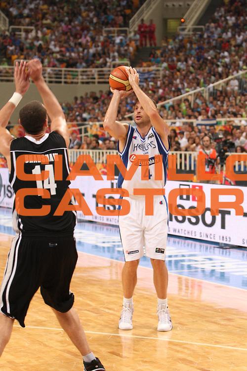 DESCRIZIONE : Atene Athens 2008 Fiba Olympic Qualifying Tournament For Men <br /> Nuova Zelanda Grecia New Zealand Greece<br /> GIOCATORE : Theodoros Papaloukas<br /> SQUADRA : Grecia<br /> EVENTO : 2008 Fiba Olympic Qualifying Tournament For Men <br /> GARA : Nuova Zelanda Grecia New Zealand Greece<br /> DATA : 18/07/2008 <br /> CATEGORIA : Tiro<br /> SPORT : Pallacanestro <br /> AUTORE : Agenzia Ciamillo-Castoria/G. Ciamillo<br /> Galleria : 2008 Fiba Olympic Qualifying Tournament For Men<br /> Fotonotizia : Atene Athens 2008 Fiba Olympic Qualifying Tournament For Men Nuova Zelanda Grecia New Zealand Greece<br /> Predefinita :