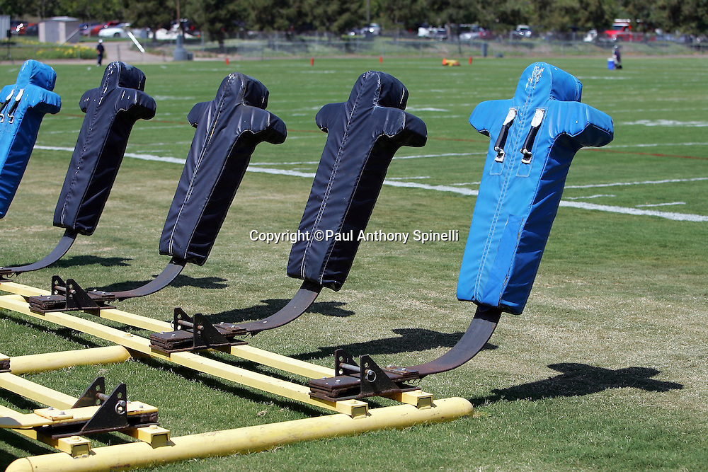 SAN DIEGO - JUNE 10:  San Diego Chargers work out equipment beckons the players during mini camp at Chargers Park on June 10, 2006 in San Diego, California. ©Paul Anthony Spinelli