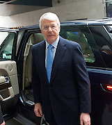 Sir John Major<br /> ex-Prime Minister <br /> departing the BBC studios following the Andrew Marr show, London, Great Britain <br /> 16th November 2014 <br /> <br /> <br /> John Major <br /> <br /> <br /> <br /> Photograph by Elliott Franks <br /> Image licensed to Elliott Franks Photography Services