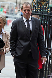© Licensed to London News Pictures. 20/06/2019. London, UK. Alastair Campbell attends a Service of Thanksgiving for Lord Haywood at Westminster Abbey. Jeremy Heywood served as Cabinet Secretary from 2012 and Head of the Home Civil Service until shortly before his death in 2018. Photo credit: Ray Tang/LNP
