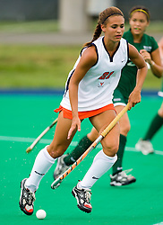 August 29, 2008 - CHARLOTTESVILLE, VA -  Virginia Cavaliers midfielder Paige Selenski (21) in action against W&M.  The Virginia Cavaliers field hockey team defeated the William and Mary Tribe 5-0 on the University Hall Turf Field on the Grounds of the University of Virginia in Charlottesville, VA.