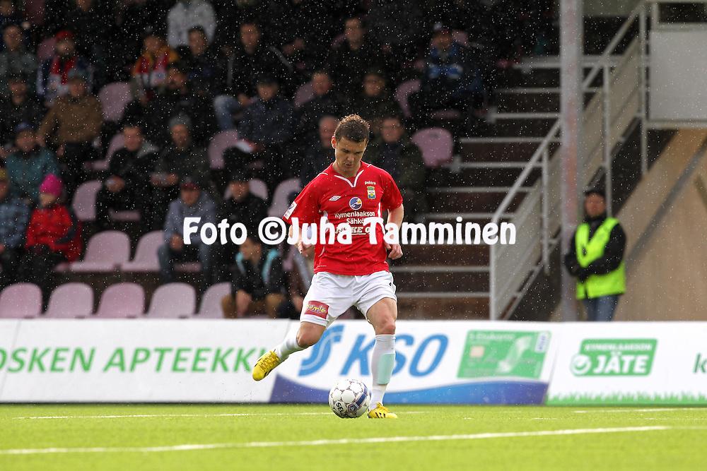 12.5.2014, Myllykoski, Kouvola.<br /> Veikkausliiga 2014.<br /> Myllykosken Pallo-47 - FF Jaro.<br /> William de Mattia &quot;Dema&quot; - MYPA