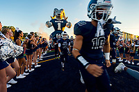 The Casa Roble High School Rams come on the to the field before the game as they host the Ponderosa High School Bruins, Friday Sep 7, 2018.