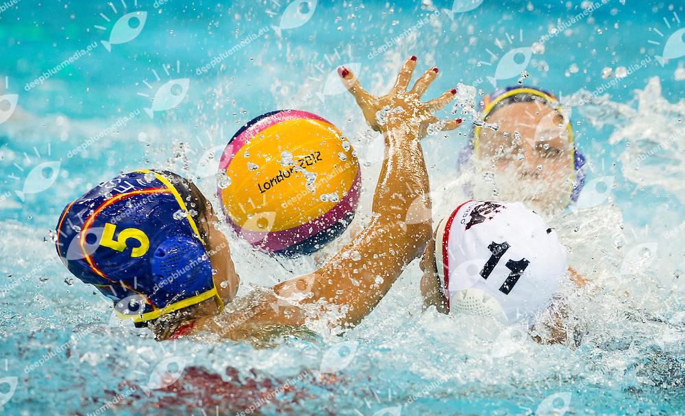 ORTIZ REYES Matilde Spain.USA - SPAIN .Water Polo Women GOLD final .London 2012 Olympics - Olimpiadi Londra 2012.day 14 Aug.9.Photo G.Scala/Deepbluemedia.eu/Insidefoto