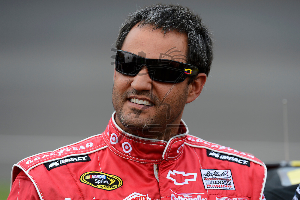 Brooklyn, MI - JUN 16, 2012: Juan Pablo Montoya (42)  during qualifying for the Quicken Loans 400 race at the Michigan International Speedway in Brooklyn, MI.