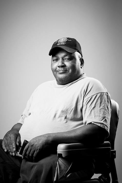 Clyde Simpson<br /> Army<br /> Sergeant First Class<br /> Field Artillery<br /> Desert Storm, Desert Shield<br /> <br /> Veterans Portrait Project<br /> Clarksville, TN