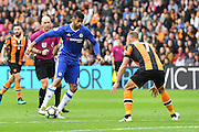 Chelsea forward Diego Costa (19) and Hull City midfielder David Meyler (7) during the Premier League match between Hull City and Chelsea at the KCOM Stadium, Kingston upon Hull, England on 1 October 2016. Photo by Ian Lyall.