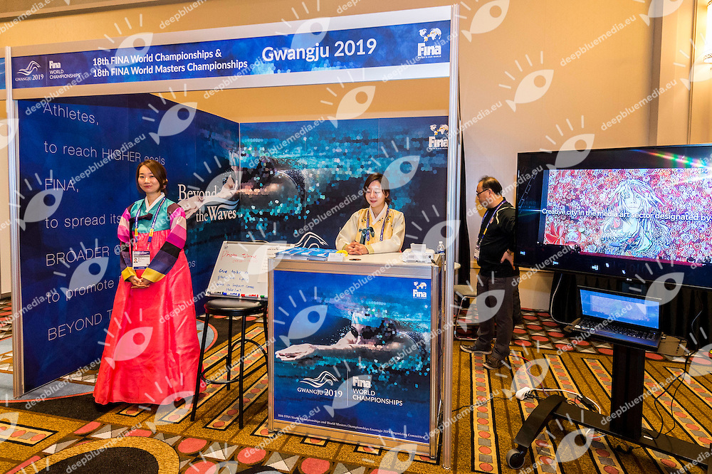 Gwangju 2019<br /> FINA 4th World Aquatics Convention<br /> Exibition Windsor  Dec. 3rd, 2016<br /> Caesar's Casino - Windsor Ontario Canada CAN <br /> 20161203 Caesar's Casino - Windsor Ontario Canada CAN <br /> Photo &copy; Giorgio Scala/Deepbluemedia/Insidefoto